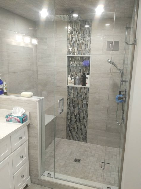 Bath remodel ChicagoCustom Shower Niche US Home Construction