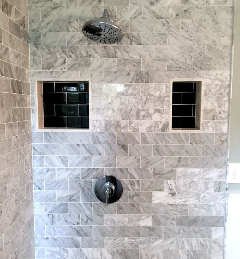 Bathroom-remodeling Chicagoland-stone-subway-custom-niche-glass