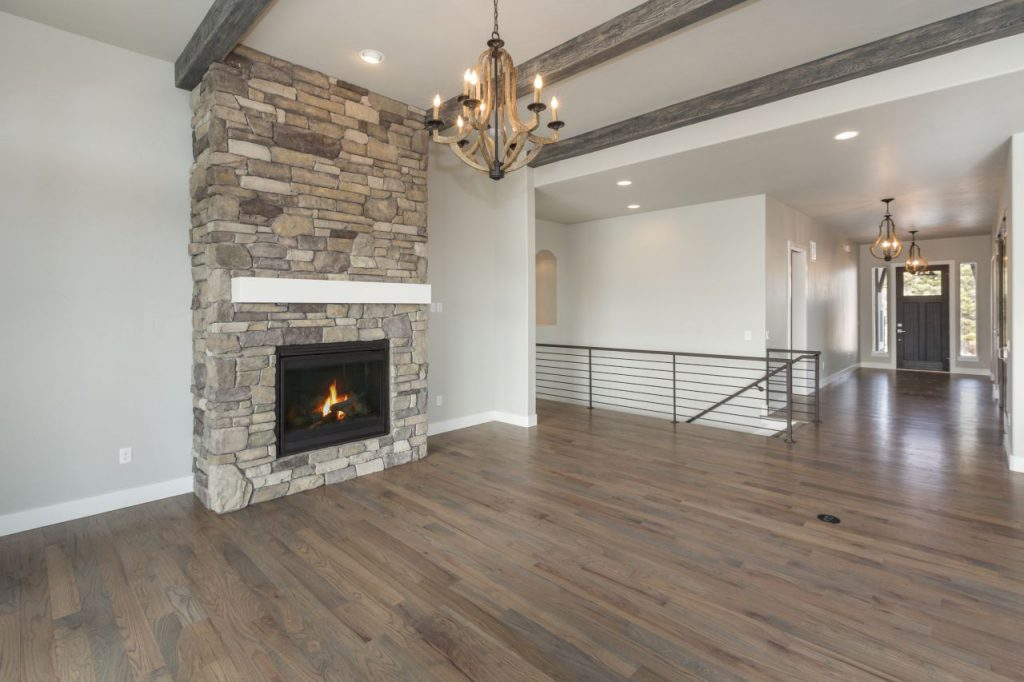 Home remodeling contractors Chicago - Fireplace and dining room